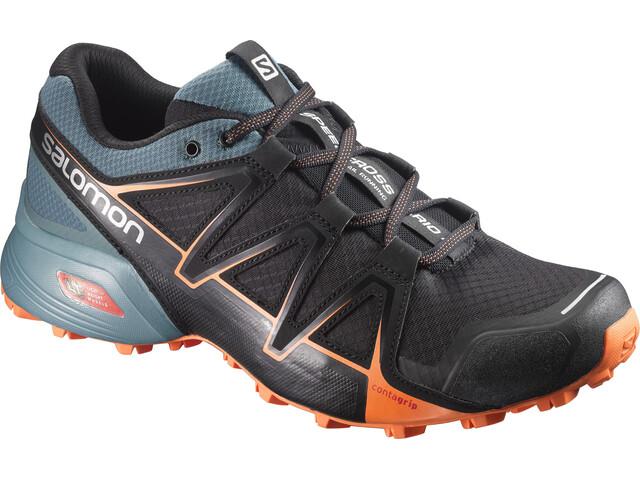Salomon Speedcross Vario 2 Shoes Men Black(North Atlantic/Scarlet Ibis